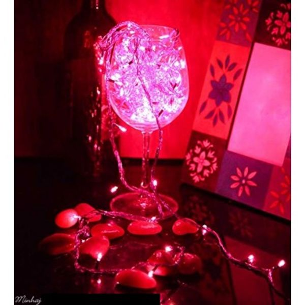 Warm Fairy Lights Pink color