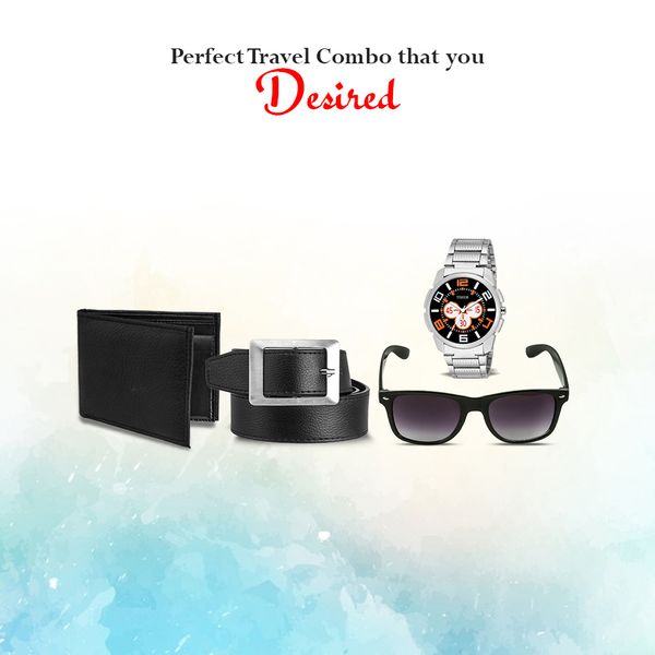 Timer all new travel combo pack which includes 1 Timer watch 1 leather belt 1 wallet 1 wayfarer sunglasses TC-COM-2