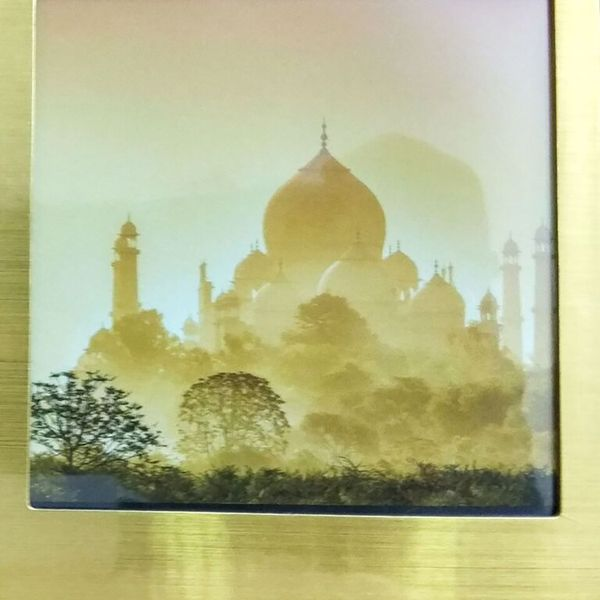 Khoozi Gold Glossy Plated Single small Magnetic Photo frame GOLD