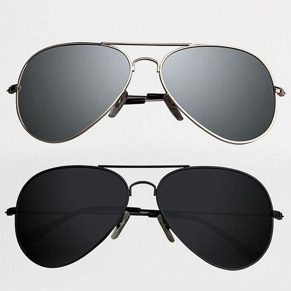 Skygge Original Unisex Combo Of Aviators Silver Frame Silver Mirror Lens And Black Frame Black Lens UV 400 Protected Polycarbonate Sunglasses